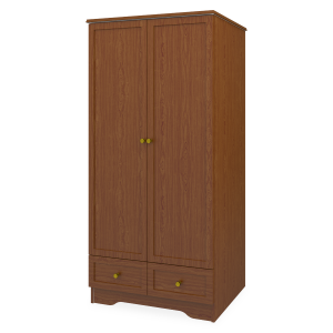 Kwalu product: Lancaster Alzheimers Double Wardrobe, 2 Drawers, 2 Doors