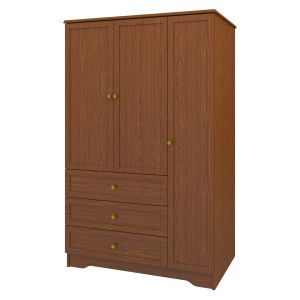 Kwalu product: Lancaster Armoire Wardrobe, 3 Drawers, 3 Doors