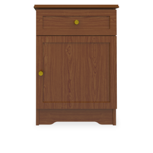 Kwalu product: Lancaster Bedside Cabinet, 1 Drawer, 1 Door