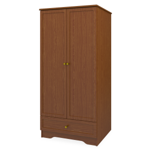Kwalu product: Lancaster Double Wardrobe, 1 Drawer, 2 Doors