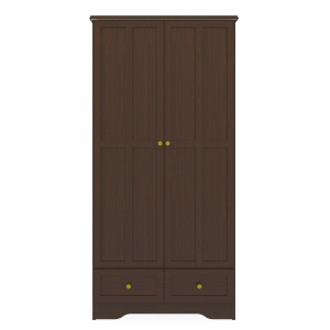 Kwalu product: Mission Alzheimers Double Wardrobe, 2 Drawers, 2 Doors