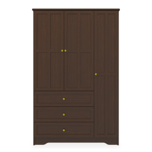 Kwalu product: Mission Armoire Wardrobe, 3 Drawers, 3 Doors