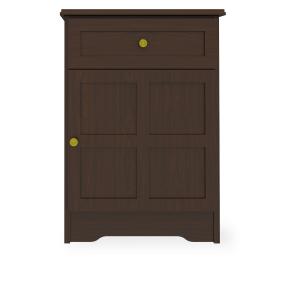 Kwalu product: Mission Bedside Cabinet, 1 Drawer, 1 Door