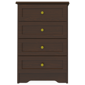 Kwalu product: Mission Bedside Cabinet, 4 Drawers