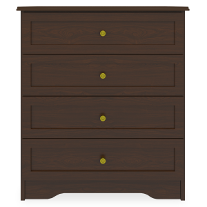 Kwalu product: Mission Chest Wide, 4 Drawers