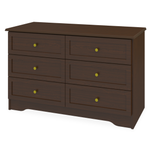 Kwalu product: Mission Dresser, 6 Drawers