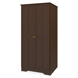 Kwalu product: Mission Double Wardrobe, No Drawers, 2 Doors