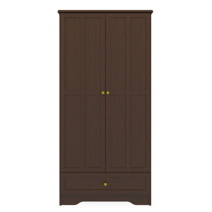 Kwalu product: Mission Double Wardrobe, 1 Drawer, 2 Doors