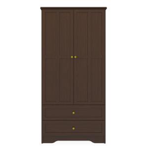 Kwalu product: Mission Double Wardrobe, 2 Drawers, 2 Doors