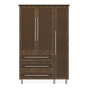 Kwalu product: Tempe Armoire Wardrobe, 3 Drawers, 3 Doors