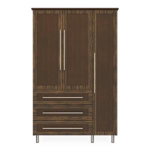 Kwalu product: Tempe Armoire Wardrobe, 3 Drawers, 3 Doors