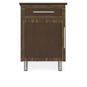 Kwalu product: Tempe Bedside Cabinet, 1 Drawer, 1 Door