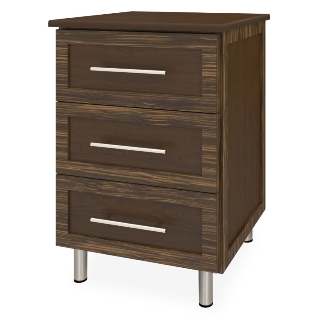 Tempe Bedside Cabinet, 3 Drawers - Kwalu