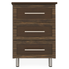 Tempe Bedside Cabinet, 3 Drawers - Kwalu