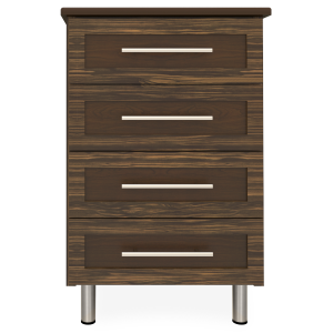 Kwalu product: Tempe Bedside Cabinet, 4 Drawers