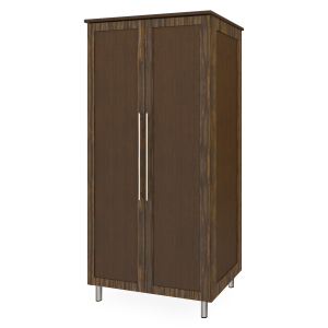 Kwalu product: Tempe Double Wardrobe, No Drawers, 2 Doors