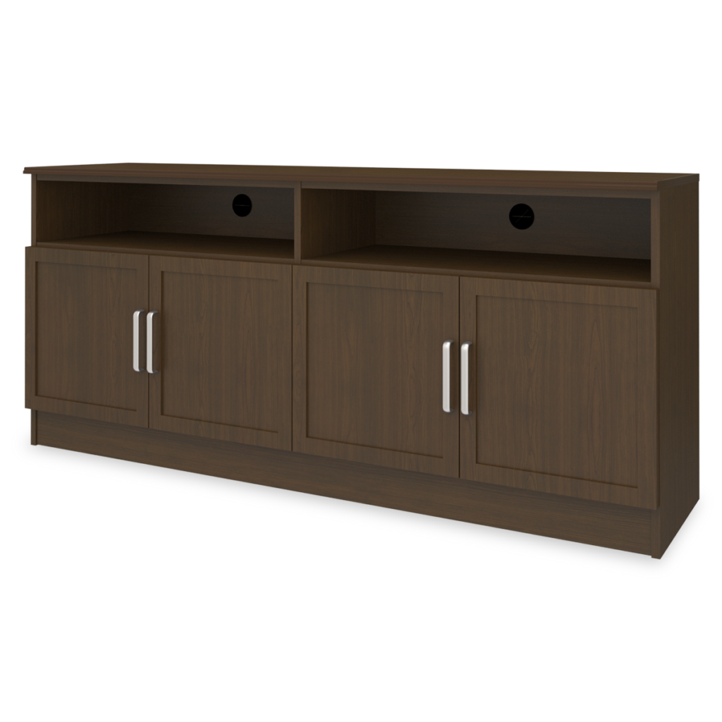 """Lancaster Media Console with Shelves – 72""""W - Kwalu"""